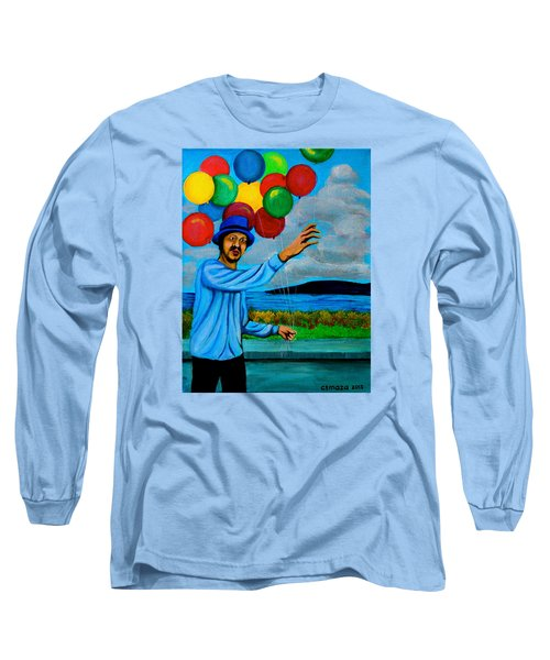 The Balloon Vendor Long Sleeve T-Shirt by Cyril Maza