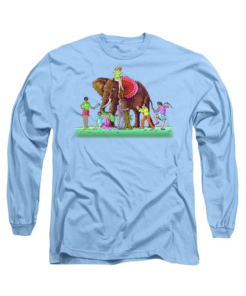 The Blind And The Elephant Long Sleeve T-Shirt