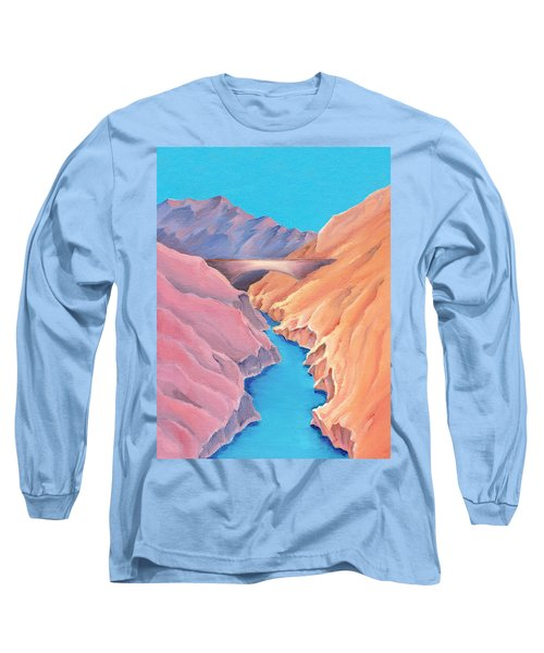Long Sleeve T-Shirt featuring the painting The Bridge by Elizabeth Lock