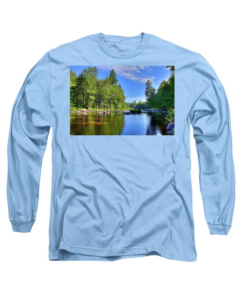 Long Sleeve T-Shirt featuring the photograph The Calm Below Buttermilk Falls by David Patterson