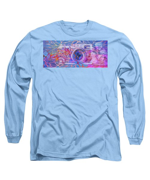 Long Sleeve T-Shirt featuring the digital art The Camera - 02c3t by Variance Collections
