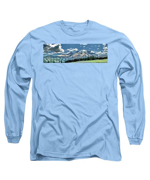 The Cascade Mountains And Mt. Rainier Long Sleeve T-Shirt