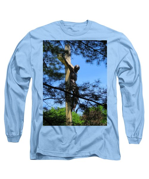 The Cross In The Woods Long Sleeve T-Shirt by Keith Stokes