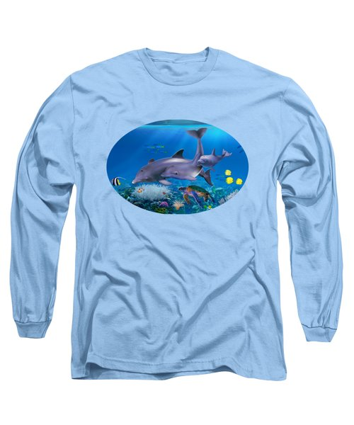 The Dolphin Family Long Sleeve T-Shirt by Glenn Holbrook