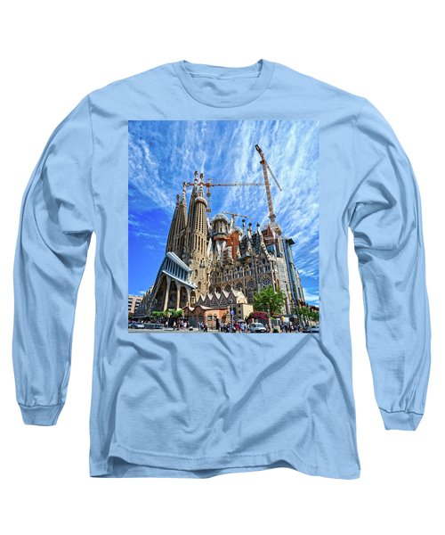 The Expiatory Temple Of The Holy Family Long Sleeve T-Shirt