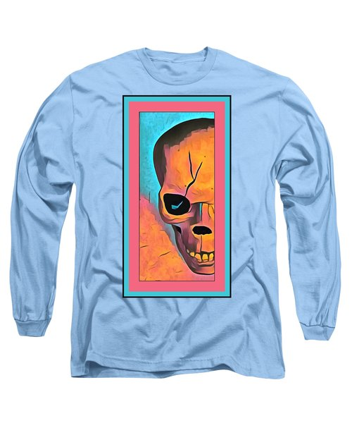 Long Sleeve T-Shirt featuring the digital art The Eye Of Death Abstract Skull by Floyd Snyder
