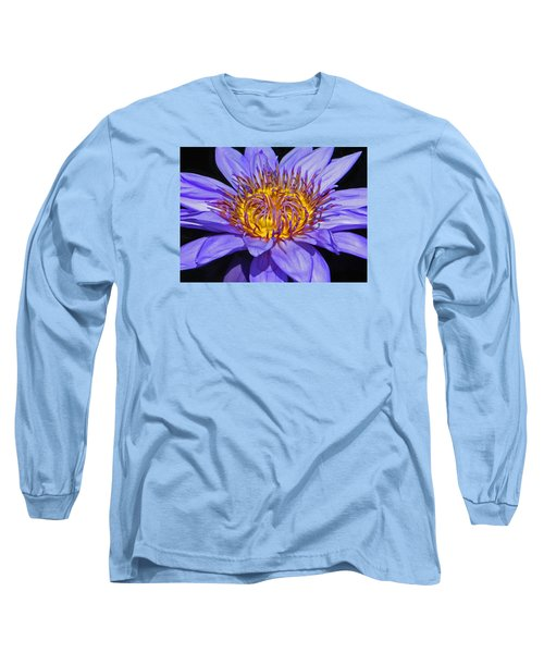 The Eye Of The Water Lily Long Sleeve T-Shirt by Emmy Marie Vickers