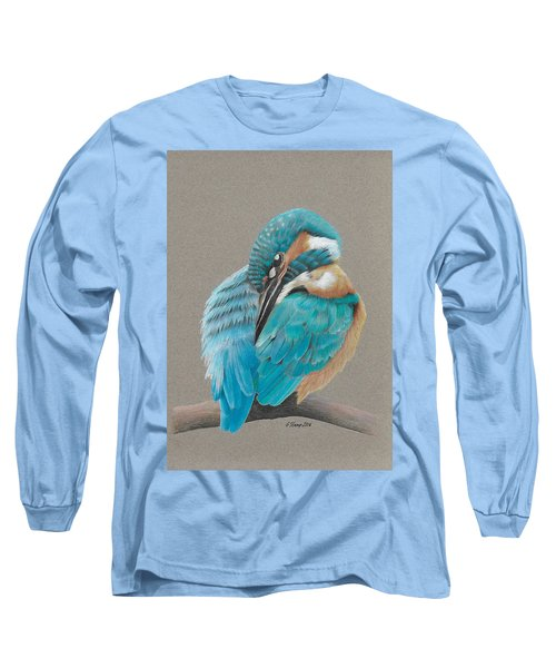 Long Sleeve T-Shirt featuring the drawing The Fisherking by Gary Stamp
