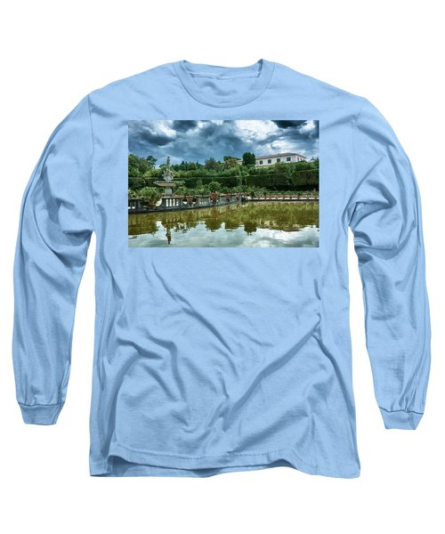 The Fountain Of The Ocean At The Boboli Gardens Long Sleeve T-Shirt