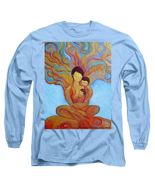 Long Sleeve T-Shirt featuring the painting The Golden Tree Of Life by Gioia Albano