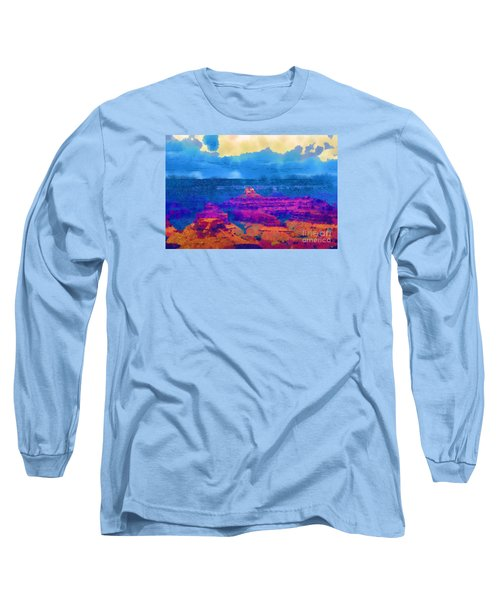 The Grand Canyon Alive In Color Long Sleeve T-Shirt by Kirt Tisdale