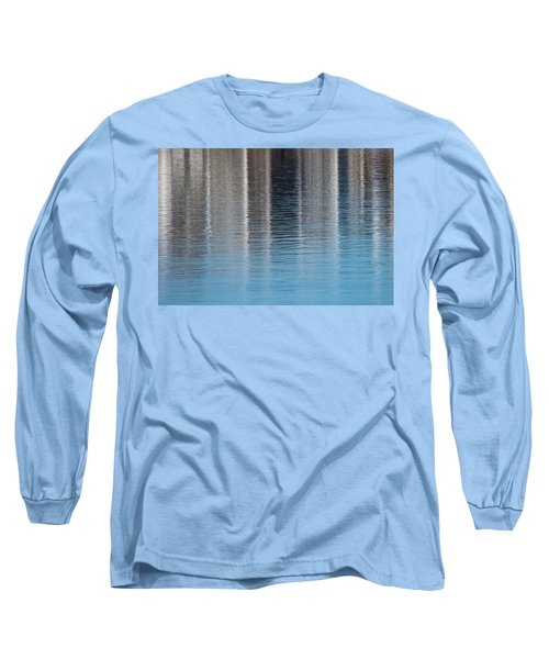 Long Sleeve T-Shirt featuring the photograph The Harbor Reflects by Karol Livote
