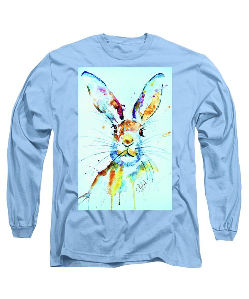 Long Sleeve T-Shirt featuring the painting The Hare by Steven Ponsford