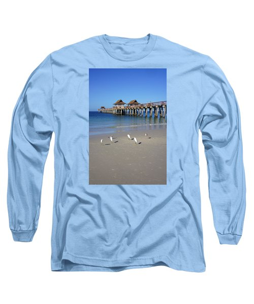 The Historic Naples Pier Long Sleeve T-Shirt by Robb Stan