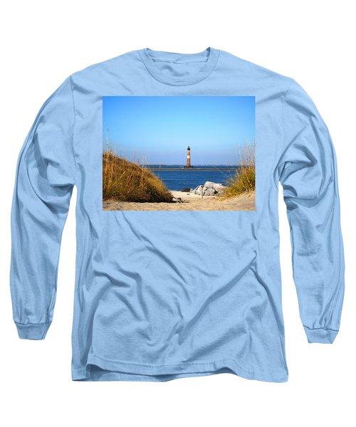The Lighhouse At Morris Island Charleston Long Sleeve T-Shirt by Susanne Van Hulst