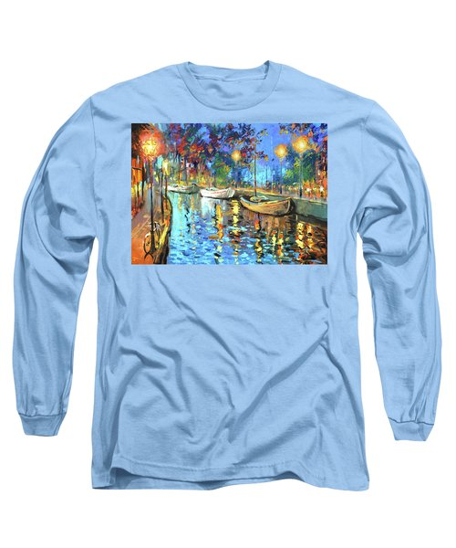 The Lights Of The Sleeping City Long Sleeve T-Shirt by Dmitry Spiros
