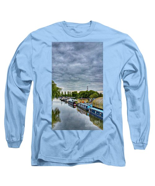 Long Sleeve T-Shirt featuring the photograph The Marina by Isabella F Abbie Shores FRSA