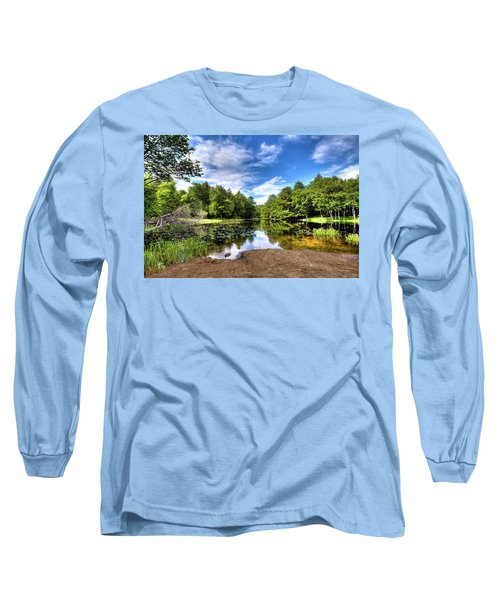 Long Sleeve T-Shirt featuring the photograph The Moose River At Covewood by David Patterson
