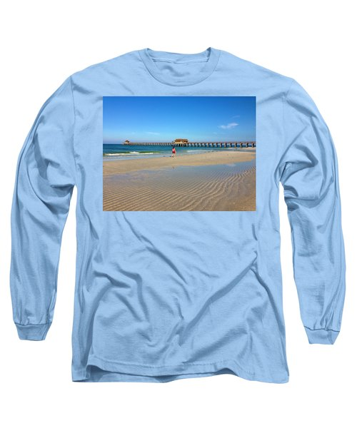 The Naples Pier At Low Tide Long Sleeve T-Shirt