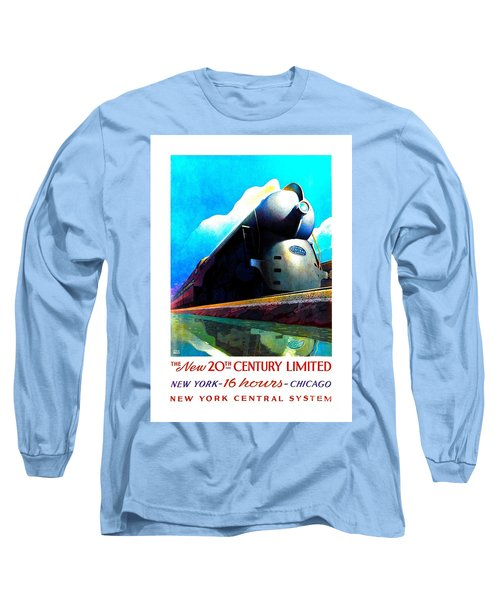 The New 20th Century Limited New York Central System 1939 Leslie Ragan Long Sleeve T-Shirt by Peter Gumaer Ogden Collection