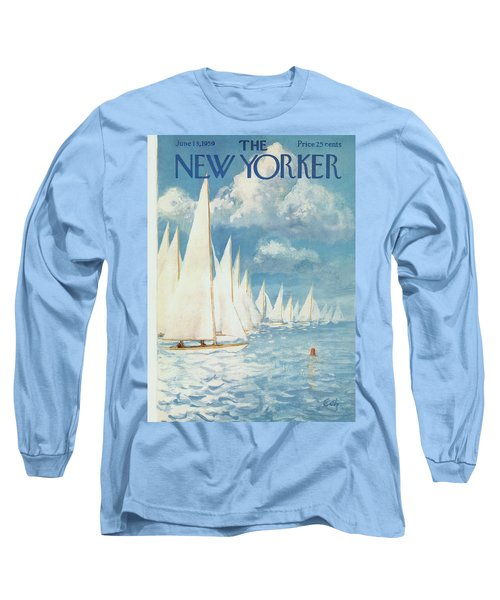 The New Yorker Cover - June 13th, 1959 Long Sleeve T-Shirt