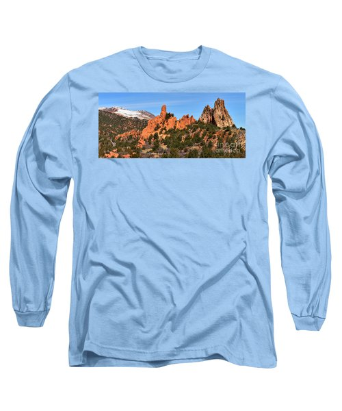 Long Sleeve T-Shirt featuring the photograph The High Point View by Adam Jewell