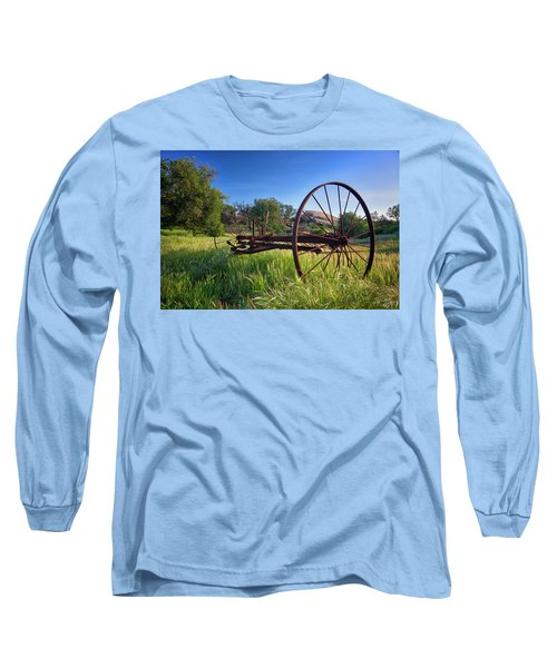 The Old Mower 2 Long Sleeve T-Shirt by Endre Balogh