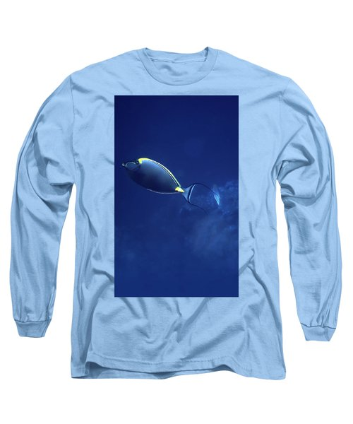 The Orangespine Unicornfish And The Deep Blue Sea Long Sleeve T-Shirt