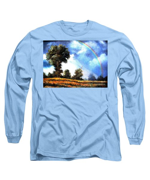 Long Sleeve T-Shirt featuring the painting The Promise  by Hazel Holland