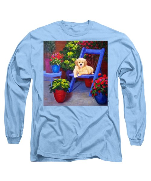 The Puppy In The Garden Long Sleeve T-Shirt
