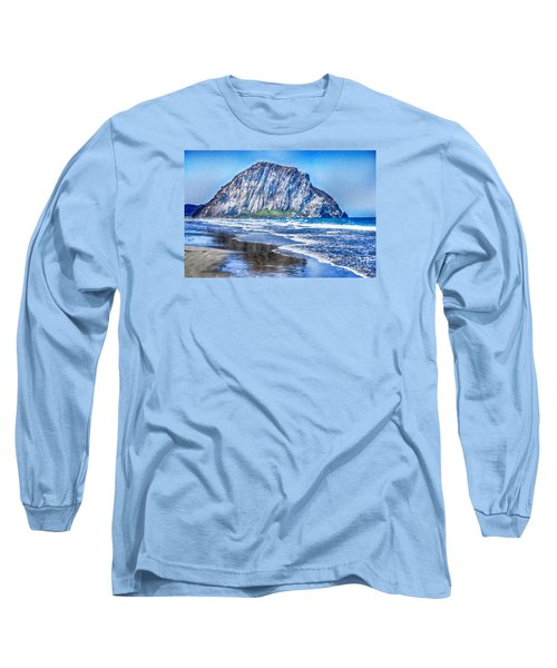 The Rock At Morro Bay Large Canvas Art, Canvas Print, Large Art, Large Wall Decor, Home Decor, Photo Long Sleeve T-Shirt by David Millenheft
