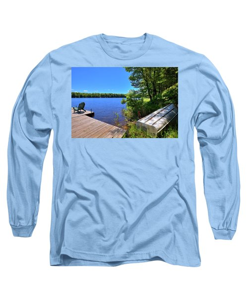 Long Sleeve T-Shirt featuring the photograph The Rowboat On West Lake by David Patterson