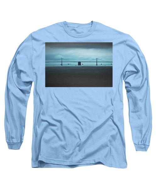 The San Francisco - Oakland Bay Bridge Long Sleeve T-Shirt