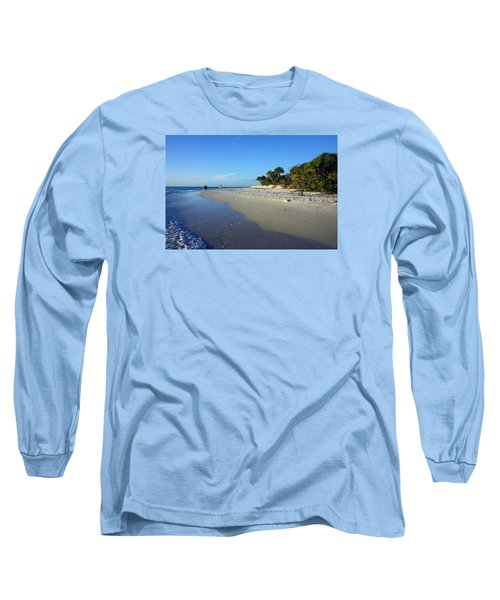 The South End Of Barefoot Beach In Naples, Fl Long Sleeve T-Shirt
