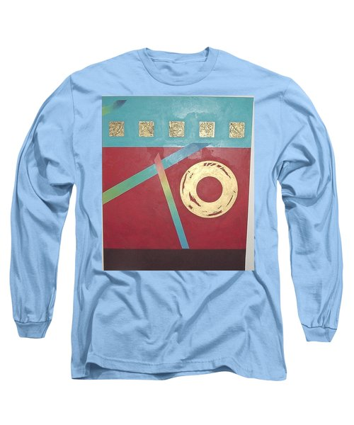 The Square Wheels Of Progress Long Sleeve T-Shirt by Bernard Goodman