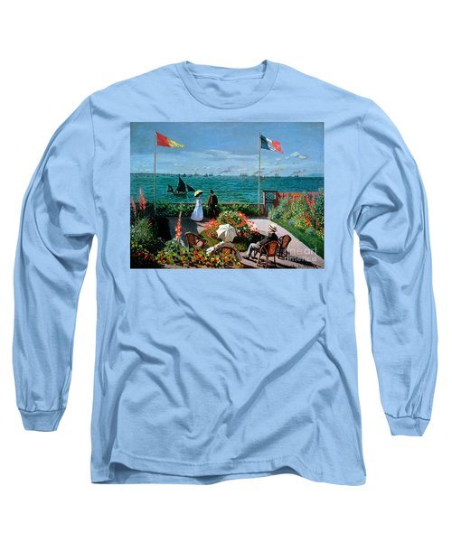 The Terrace At Sainte Adresse Long Sleeve T-Shirt