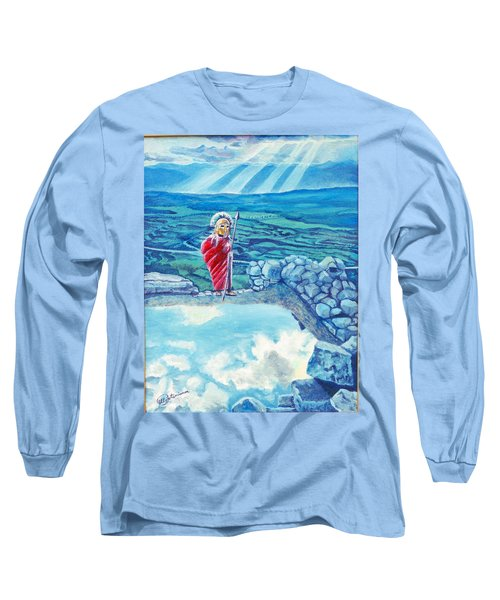 The Transcending Spartan Soldier Long Sleeve T-Shirt