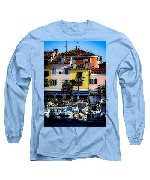 The Watercolors In Split Long Sleeve T-Shirt