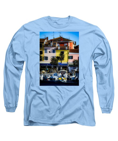 The Watercolors In Split Long Sleeve T-Shirt
