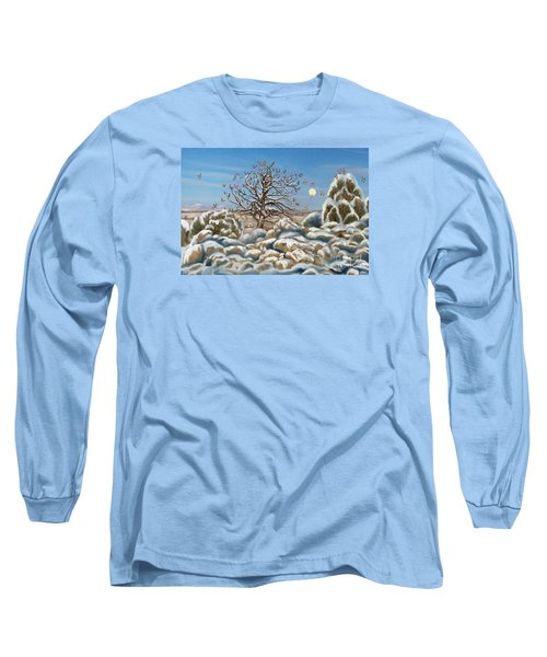 The Waxwing Tree Long Sleeve T-Shirt by Dawn Senior-Trask