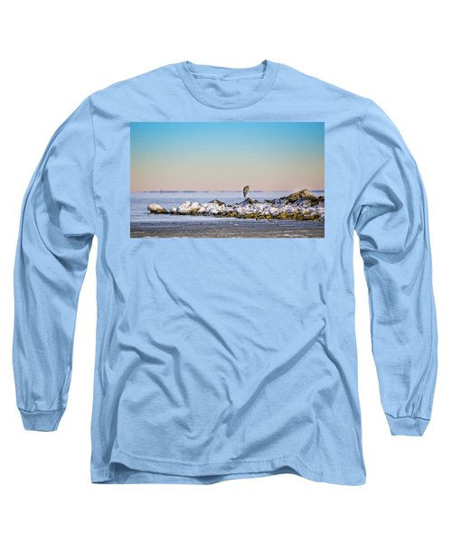 The Winter Heron Long Sleeve T-Shirt