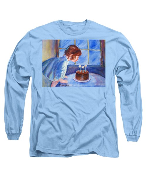 Long Sleeve T-Shirt featuring the painting The Wish by Marilyn Jacobson