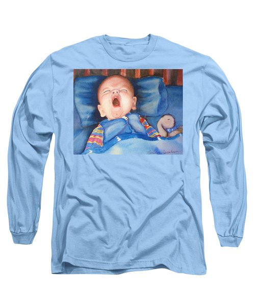 Long Sleeve T-Shirt featuring the painting The Yawn by Marilyn Jacobson