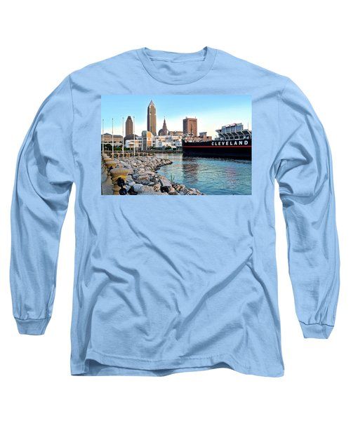 This Is Cleveland Long Sleeve T-Shirt by Frozen in Time Fine Art Photography
