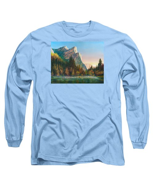 Three Brothers Morning Long Sleeve T-Shirt by Douglas Castleman
