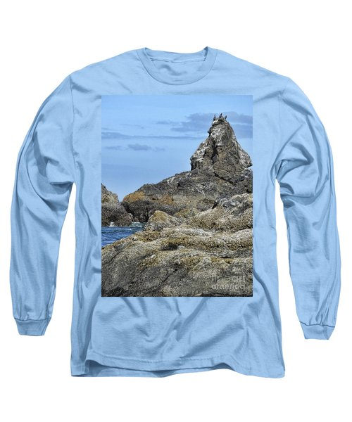 Long Sleeve T-Shirt featuring the photograph Three Little Birds by Peggy Hughes