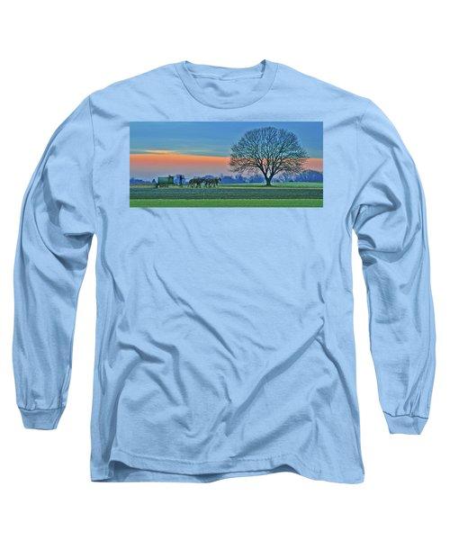 Through The Fields Long Sleeve T-Shirt by Scott Mahon