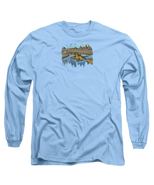 Tides Out At Seal Rock Beach Long Sleeve T-Shirt
