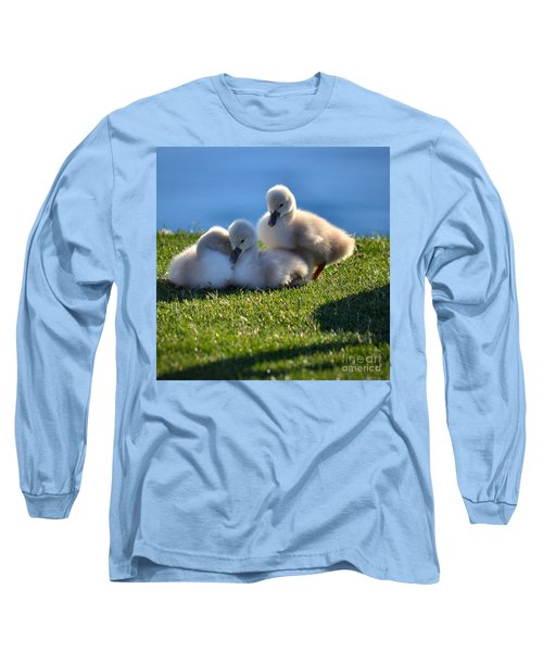 Time To Snuggle Long Sleeve T-Shirt by Deb Halloran