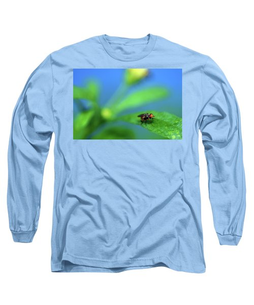 Tiny Fly On Leaf Long Sleeve T-Shirt